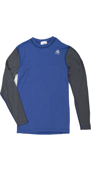 Aclima Junior Lightwool Crew Neck Dazzling Blue/Iron Gate
